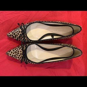 Zara leopard flat shoes